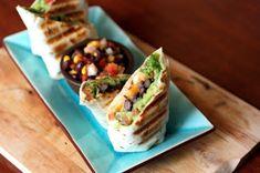 Guacamole and Black Bean Burrito | @naturallyella