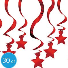Red Star Decorations $8.99