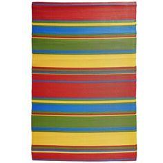 Bright Stripes Plastic Rugs