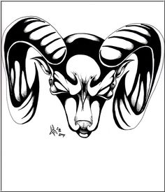Aries Tattoo Designs | Aries tattoo design - Captain Froggers Art Gallery