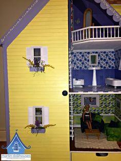 alpine-martin-dollhouse-wood-doll-house-left-closed Dollhouse Kits, Kit Homes, Dollhouses, Miniatures, Wood, Outdoor Decor, Collection, Home Decor, Dioramas