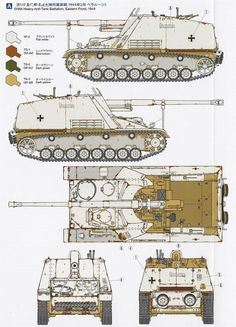 German Nashorn Heavy Tank Destroyer Army Vehicles, Armored Vehicles, Camouflage Colors, Panzer Iv, Military Armor, Tiger Tank, Tank Destroyer, Model Tanks, Armored Fighting Vehicle