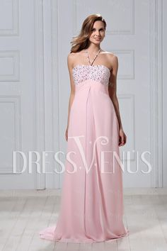 Graceful A-Line Floor-Length Halter Polina's Evening/Prom Dress