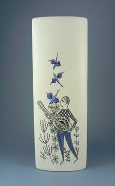 Stavangerflint Vase by Inger Waage