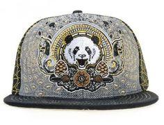 GRASSROOTS CALIFORNIA x THIRD EYE PINECONES Panda Fitted Cap Third Eye  Pinecone a134a000d041