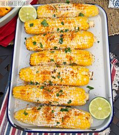 Skinny Mexican Grilled Corn, the perfect (EASY) side dish for BBQs! Yum!