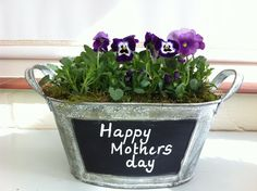 Mother's day is Sunday 10th March these little planters can be personalised with your own special message http://www.gardenplantersshop.co.uk/oval-blackboard-planter_p261.aspx