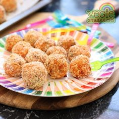 Sweet potato, rice, cheese & lentil balls. Perfect for independent toddlers