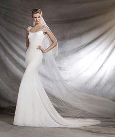 OLIMPIA - Robe de mariée, silhouette sirène et décolleté rond