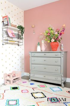 Girl Room, Girls Bedroom, Baby Room, Before After Furniture, Beatrix Potter Nursery, Play Beds, Painted Cupboards, Dresser As Nightstand, House Colors