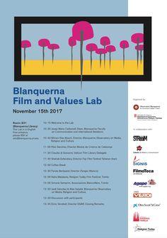 "Josep Rom Tú lo ha guardado en Cartells, en Blanquerna / Disseny Gràfic Poster ""Blanquerna Film and Values Lab"". Blanquerna Observatory. 2017 #design #university #Blanquerna"
