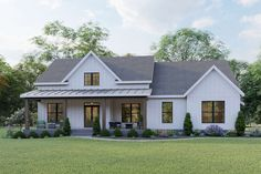 America's Best House Plans by the nations leading home designer and architects! View this collection to see our top selling home plans. House Plans One Story, Best House Plans, Dream House Plans, Simple House Plans, Dream Houses, Simple House Exterior, One Floor House Plans, Log Houses, Square Floor Plans