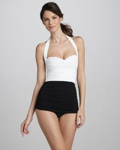 Shop Bill High-Waist Swim Bottom from INTERACTIVE by Norma Kamali at Neiman  Marcus Last Call, where you'll save as much as on designer fashions.