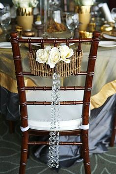 added interest to our chiavari chairs adds wonders to this winter wedding