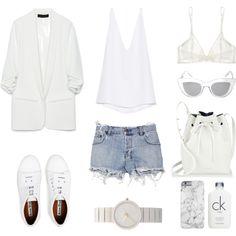 Minimalistic in Summer by fashionlandscape on Polyvore featuring Mode, Cushnie Et Ochs, Zara, Ksubi, Yasmine eslami, Acne Studios, Mansur Gavriel, Braun, BCBGMAXAZRIA and Calvin Klein