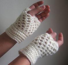 Made to order crocheted short fingerless by reneeoriginals1, $20.00