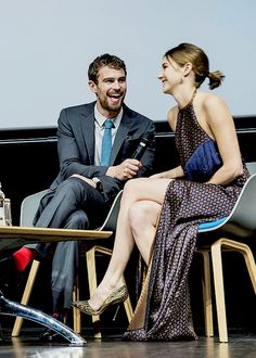 """Shailene & Theo at the ""Insurgent"" premiere in Denmark on March 12, 2015 """