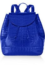 Nancy Gonzalez|Glossed-crocodile backpack|NET-A-PORTER.COM