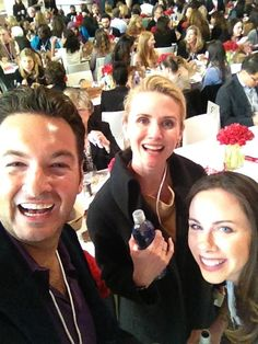 Jen at the Women in the World conference with Marc Adelman and Barbara Bush