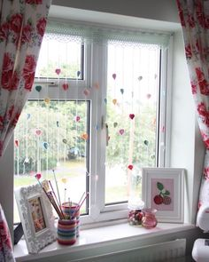 Raindrops falling down by Sandra,Cherry Heart.- will do for our new home