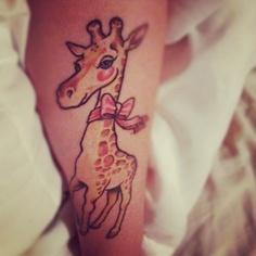 cute giraffe tattoo.