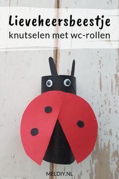 Lieveheersbeestje met wc-rollen knutselen. Een lieve insect. Easter Crafts For Kids, Activities, School, Diy, Milan, Paper Board, Kunst, Easter Crafts For Toddlers, Bricolage