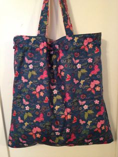 Butterfly Garden Reversible Drawstring Tote Bag by WindPoppy, $45.00