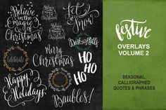 Christmas Wishes Overlays - Vol Two by LetteraEtc on Creative Market