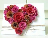 Heart Deco from various sizes and shades of a specific color for Card