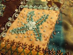 The Beaded Needle: New Crazy Quilt