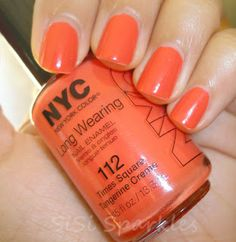 SiSi Sparkles: Swatch: N.Y.C. - Times Square Tangerine Creme