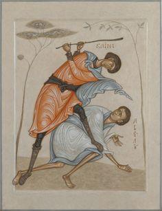 George Tooker, Cain And Abel, Byzantine Icons, Art Icon, Orthodox Icons, Sacred Art, Christian Art, Moose Art, Artsy