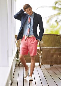 Tie goes perfect with the shorts