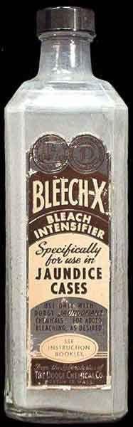 Bleech-x Bleach Intensifier Specifically for use in Jaundice Cases - embalming fluid bottle