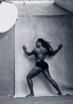 Serena Williams ('not a nude but a body study'), photographed by Annie Leibovitz for the annual calendar produced by the tyre-maker Pirelli