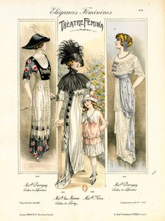 All about fashion. Edwardian Dress, Edwardian Fashion, Vintage Fashion, Historical Costume, Historical Clothing, Late Modern Period, Vintage Dresses, Vintage Outfits, Belle Epoch