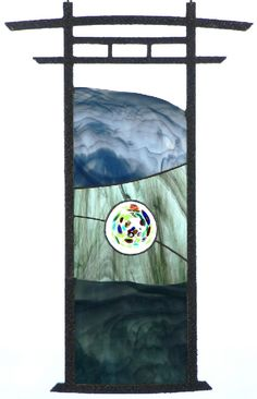 """""""Gateway to Nirvana"""" Leaded Glass Windows, Stained Glass Panels, Stained Glass Art, Mosaic Glass, Fused Glass, Stained Glass Designs, Stained Glass Projects, Japanese Quilts, Glass Artwork"""