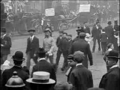Around Manchester in 1901.... this is from a lost film called Electric Edwardians.... they're on youtube and FASCINATING... (they traveled to cities and captured street scenes and people working and played the footage later in theaters for people to watch)