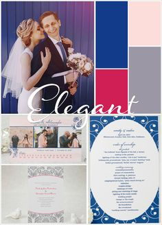 Create A Modern Blue and Pink Wedding Color Scheme