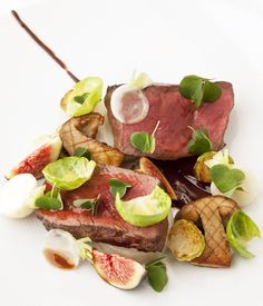 Dark chocolate and gamey venison make the perfect match, with the sweet fig and earthy sprouts packing an extra delicious punch in this colourful main course by Marcus Wareing. For more delicious venison dishes, check out our venison recipes.