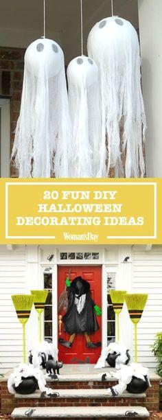cute, not too scarey Halloween decorations Pinterest - halloween office decorating ideas