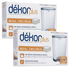 Diaper Dekor Plus Refill - 2 ct - 2 pk Using Dekor diaper pail liners actually saves you money over other diaper pail refill systems. Typically the cost is a Peg Perego, Diaper Pail, Newborn Diapers, Baby Jogger, Disposable Diapers, Baby Comforter, Free Baby Stuff, Kids House, Baby Care