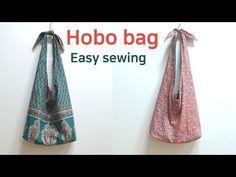 DIY Make a hobo bag/hobo bag minutes/호보백만들기/초간단 … Bag Pattern Free, Tote Pattern, Hobo Bag Tutorials, Hobo Bag Patterns, Diy Bags No Sew, Diy Bags Holder, Crochet Market Bag, Diy Purse, Patchwork Bags