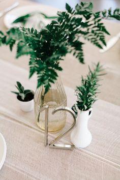 Non floral table decor  Photography: Joel Bedford - www.joelbedfordweddings.ca  Read More: http://www.stylemepretty.com/california-weddings/2015/04/30/modern-palm-springs-ace-hotel-wedding/