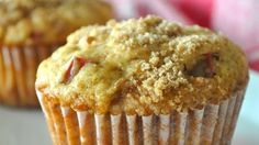 Rhubarb muffins. Omitted the walnuts. Used 3 cups of rhubarb, but it was a bit much - next time I think I'd try 2 - 2.5.