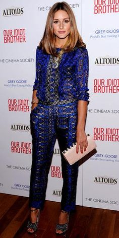 For the Cinema Society screening of Our Idiot Brother, Palermo wore a printed Tibi ensemble, leather tote and ankle-strap heels.