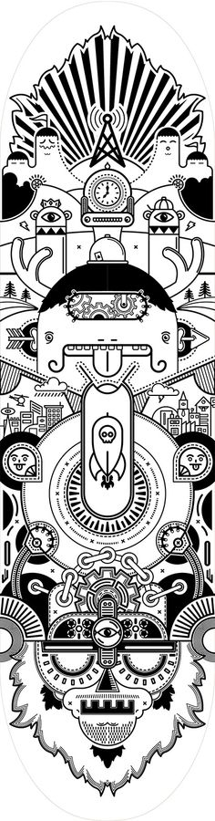 Laser Etched Skateboard by Pablo Byrne, via Behance. See more at Smartpress.com.