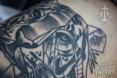 Tiger tattoo, bold line, tattoos Vinicius, Montijo Tattoos