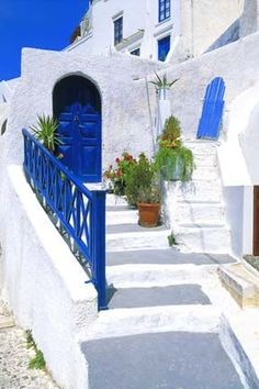Greece    Blue Door/ Leaning Gate