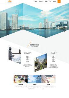 株式会社ケイミックス Website Layout, Web Layout, Layout Design, Web Ui Design, Page Design, Web Japan, Leaflet Design, Grid Layouts, Collage Design